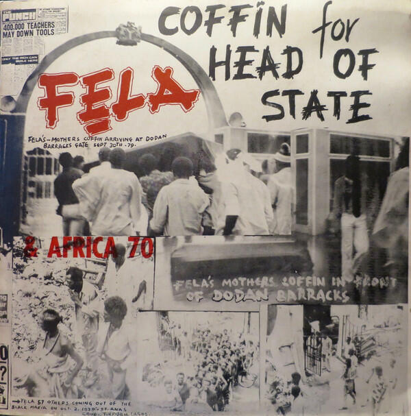 Cover of vinyl record COFFIN FOR HEAD OF STATE by artist KUTI, FELA
