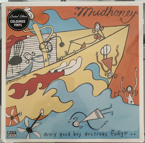 Cover of vinyl record EVERY GOOD BOY DESERVES FUDGE - (ORANGE VINYL) by artist MUDHONEY