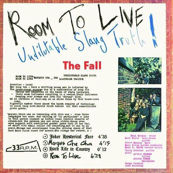 Cover of vinyl record ROOM TO LIVE by artist FALL