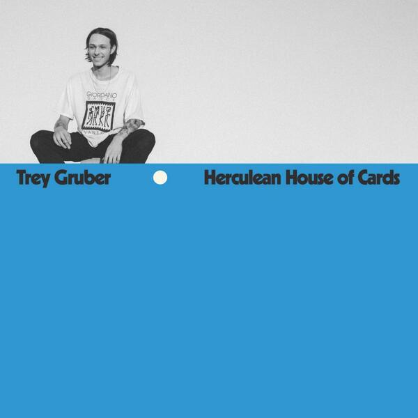 Cover of vinyl record HERCULEAN HOUSE OF CARDS - (OPAQUE BLUE VINYL) by artist GRUBER, TREY