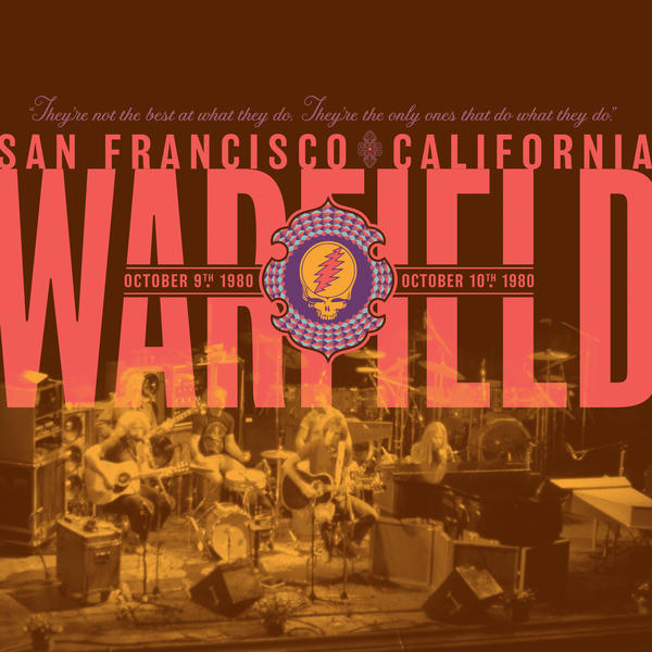 Cover of vinyl record WARFIELD, SAN francisco california - october 9th, 1980 by artist GRATEFUL DEAD
