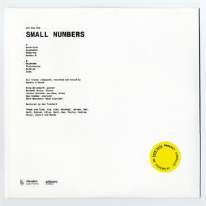 Cover of vinyl record small numbers by artist