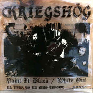Cover of vinyl record PAINT IT BLACK/WHITE out by artist