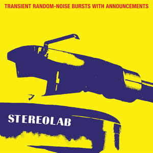 Cover of vinyl record TRANSIENT RANDOM-NOISE bursts with announcements by artist